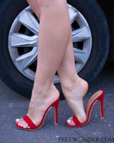 Feet In Red Shoes
