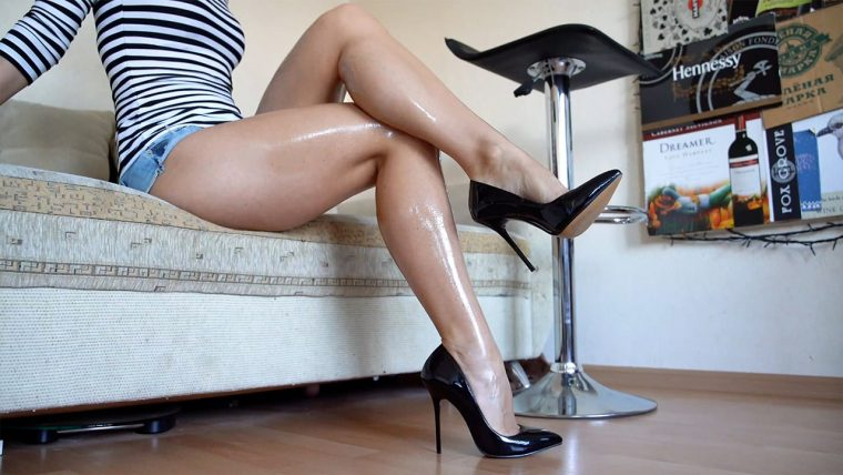 sexy oily legs and feet