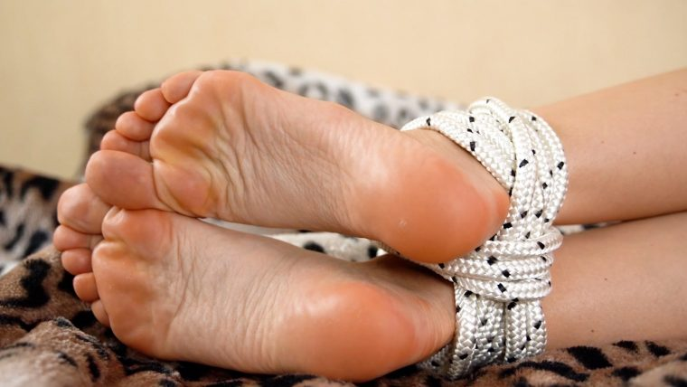 Tied Up Female Feet Video